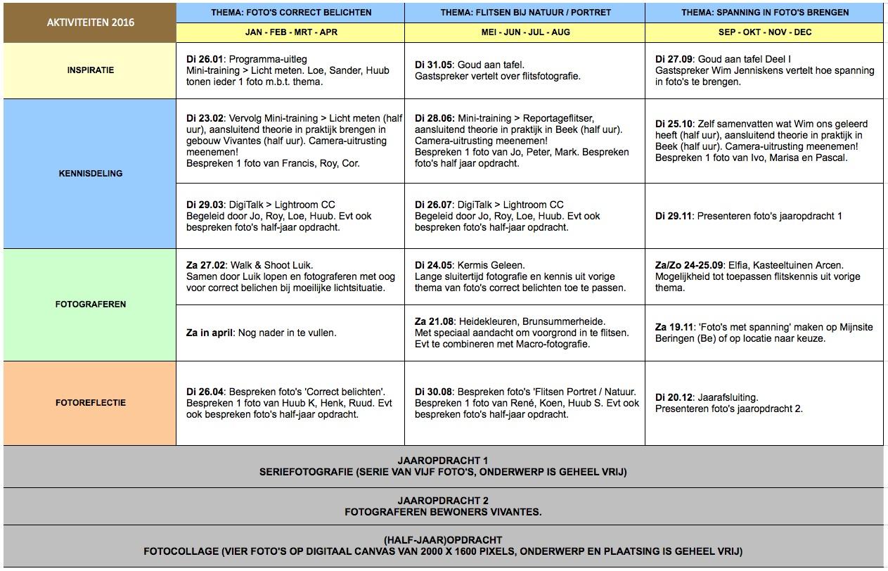 Activiteitenprogramma2016
